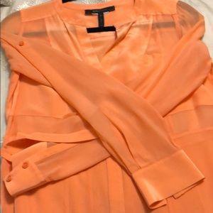 BCBGMaxAzria Tops - BCBGMAXAZRIA cantaloupe color shirt